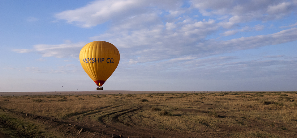 National Parks #9 – Masai Mara – Balloons floating across the horizon