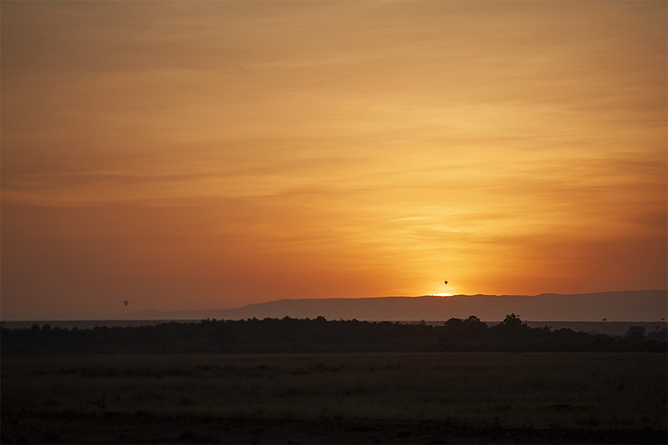 Sunrise over Maasai Mara